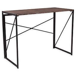 No Tools Folding Desk in Black