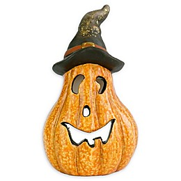 Lighted Jack-O-Lantern 8-Inch Halloween Decoration