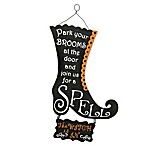 """National Tree Company 18-Inch """"The Witch is In"""" Halloween Wall Sign"""