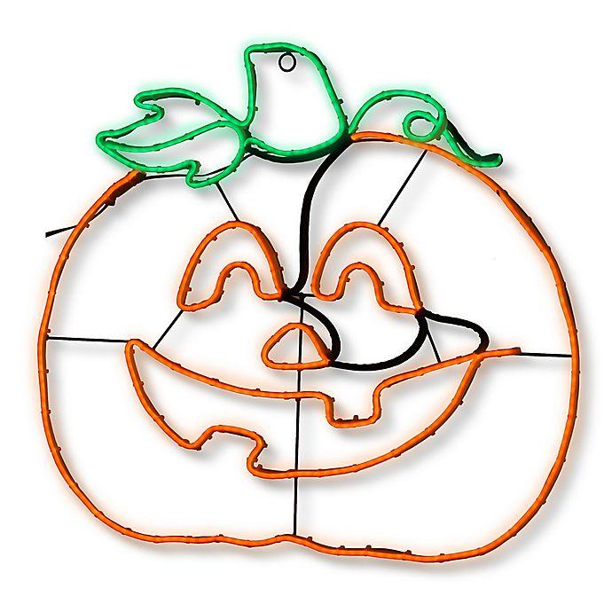 Alternate image 1 for National Tree Company® 24-Inch LED Pumpkin Halloween Decoration