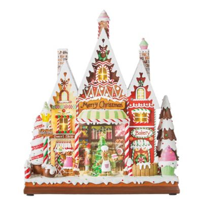 Roman Inc Lighted Candy Village Holiday Decoration Bed