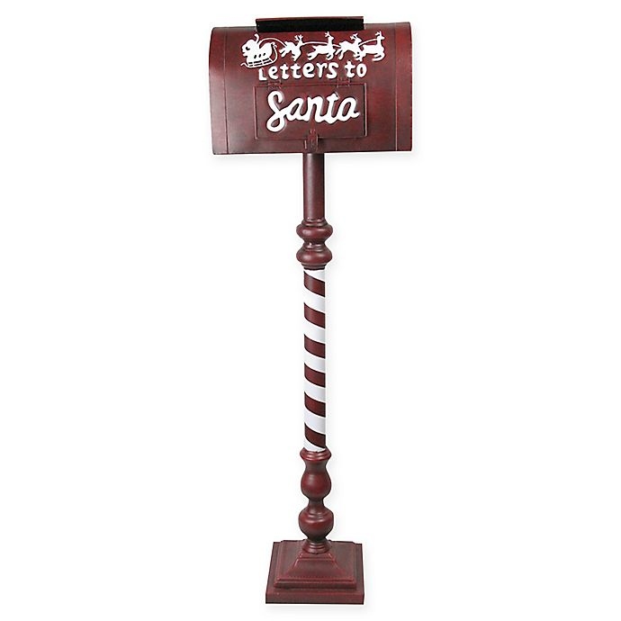 Christmas Mailbox.40 Inch Letters To Santa Christmas Mailbox In Red Bed