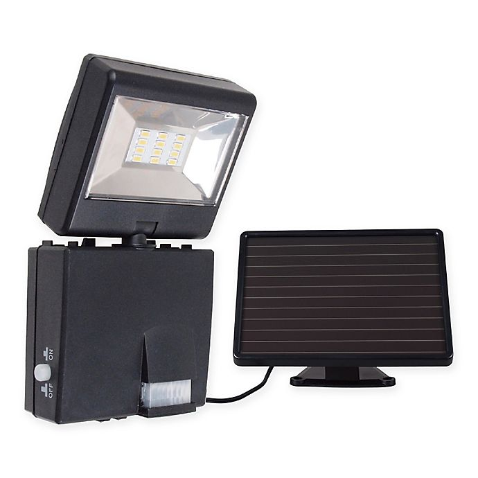 Alternate image 1 for Link2Home 480 Lumen LED Solar Security Single Head Sensor Floodlight w/ Photocell Technology