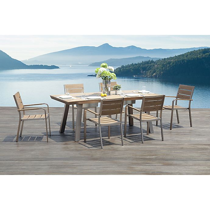 Alternate image 1 for Pompano 7-Piece Outdoor Dining Set with Integrated Ice Buckets