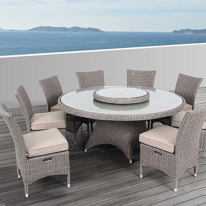 Groovy Ove Decors Habra Ii 9 Piece Indoor Outdoor Dining Set In Cjindustries Chair Design For Home Cjindustriesco