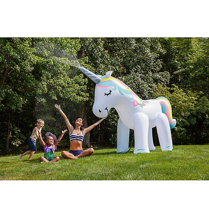 Alternate image 1 for Big Mouth Inc. 6-1/2-Foot Unicorn Sprinkler
