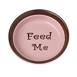 Petrageous® Designs Sassy Girl 6-Inch Round Shallow Stoneware Pet Bowl