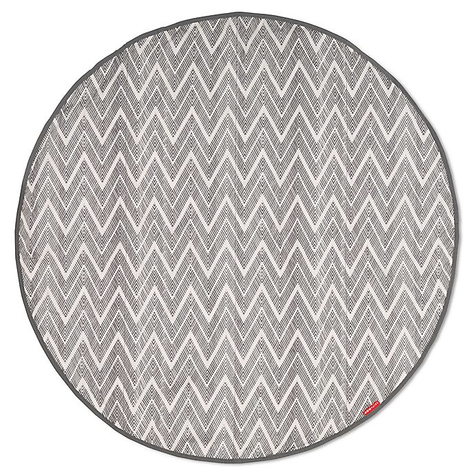 Alternate image 1 for SKIP*HOP® Grab & Go Round Trip Travel Mat in Grey Zig Zag