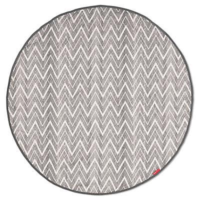 SKIP*HOP® Grab & Go Round Trip Travel Mat in Grey Zig Zag
