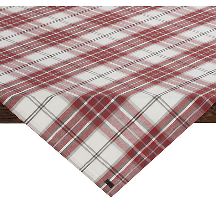 Alternate image 1 for UGG® Bristol Plaid 50-Inch Square Table Topper Throw