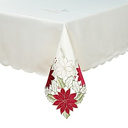 Leona Poinsettia Cutwork Table Linen Collection