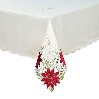 Leona Poinsettia Cutwork Table Linen Collection