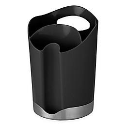 Prodyne Bravada Utensil Holder/Spoon Rest Combo in Black/Stainless Steel