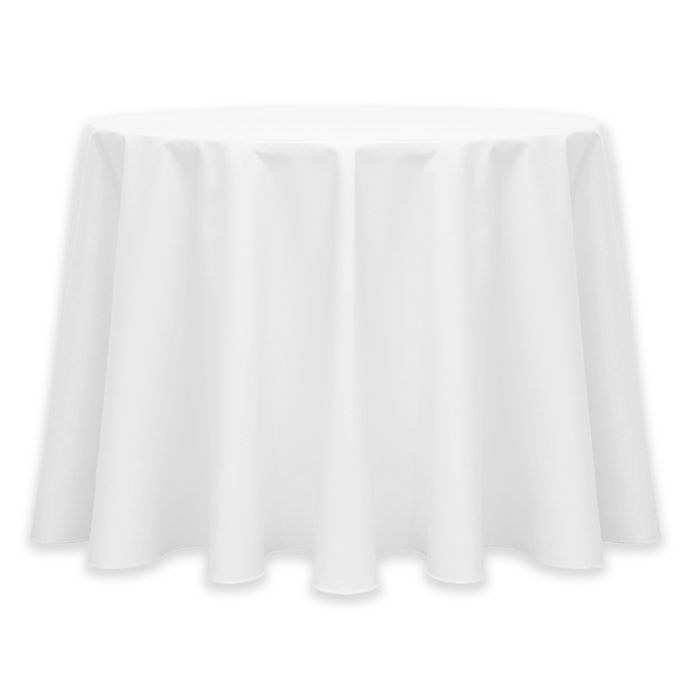 Alternate image 1 for Ultimate Textile Twill 60-Inch Round Tablecloth in White