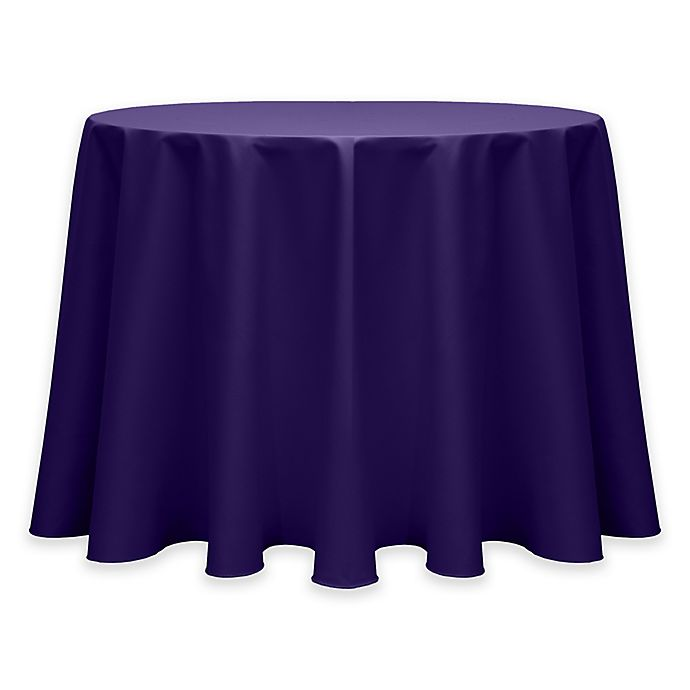 Alternate image 1 for 72-Inch Round Twill Tablecloth in Purple