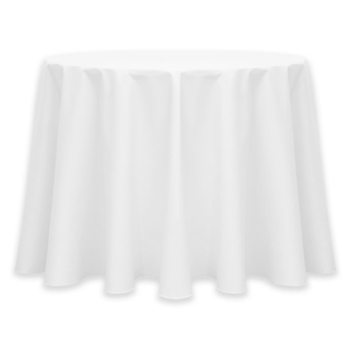 Alternate image 1 for 72-Inch Round Twill Tablecloth in White