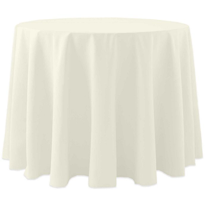 Alternate image 1 for 72-Inch Round Spun Polyester Tablecloth in Ivory