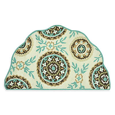 Loloi Rugs Summerton Floral 2'3 x 3'9 Accent Rug in Ivory/Teal