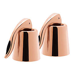 Oggi™ Stainless Steel Bottle Stoppers in Copper (Set of 2)