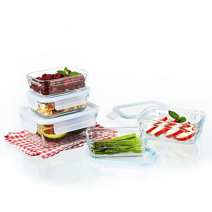 Alternate image 1 for Glasslock 10-Piece Food Storage Set in Aqua