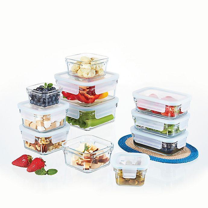 Alternate image 1 for Glasslock Food Storage Set in Aqua