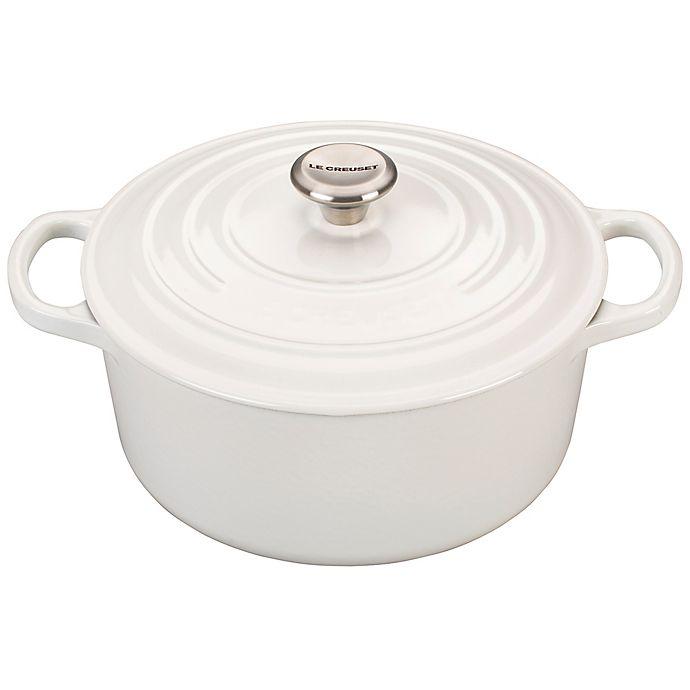 Alternate image 1 for Le Creuset® Signature 3.5 qt. Round Dutch Oven in White
