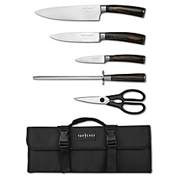 Top Chef® Dynasty 6-Piece Knife Set with Carry Case in Brown