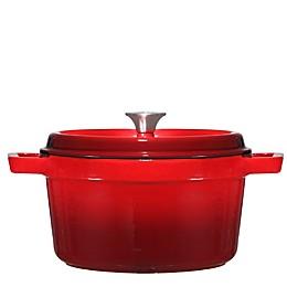 Bruntmor™ Nonstick 6.5 qt. Enameled Cast Iron Dutch Oven in Red