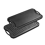 Bruntmor™ Nonstick Cast Iron Reversible Grill/Griddle Pan in Black