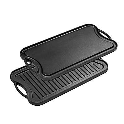 Bruntmor™ Nonstick Cast Iron Reversible Grill/Griddle Pan in Black