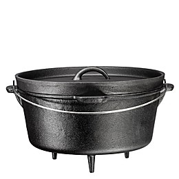 Bruntmor™ Nonstick 8.5 qt. Cast Iron 3-Legged Dutch Oven in Black