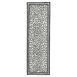 Safavieh Chelsea Wool 2-Foot 6-Inch x 10-Foot Runner in White and Black