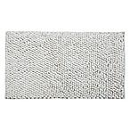 Bubbles Microfiber 50  x 30  Bath Mat in White