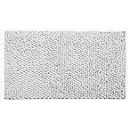 Bubbles Microfiber 36  x 24  Bath Mat in White