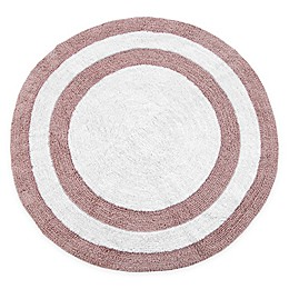"""Concentric Rings 36"""" Round Reversible Bath Mat"""