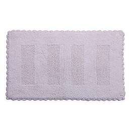 Crochet Lace Border Reversible Bath Mat