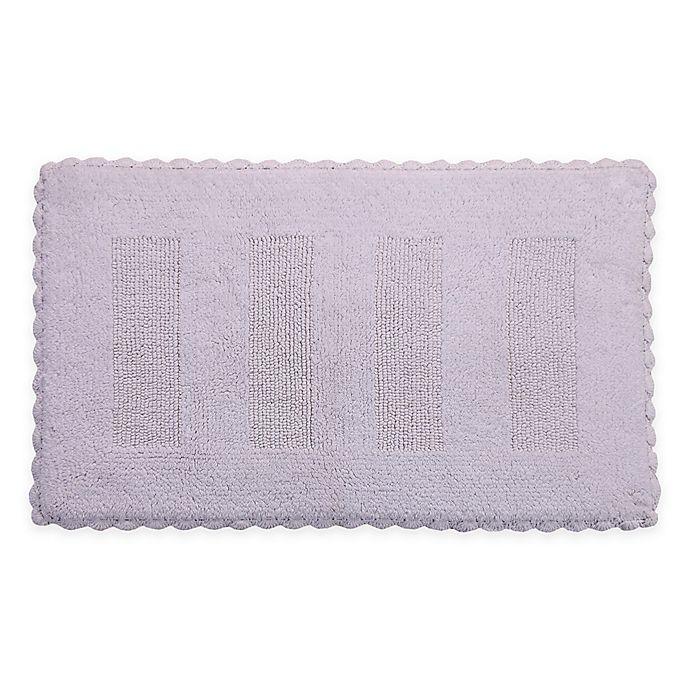 Alternate image 1 for Crochet Lace Border Reversible Bath Mat