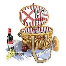 Northlight 24-Piece Picnic Basket Set in Honey