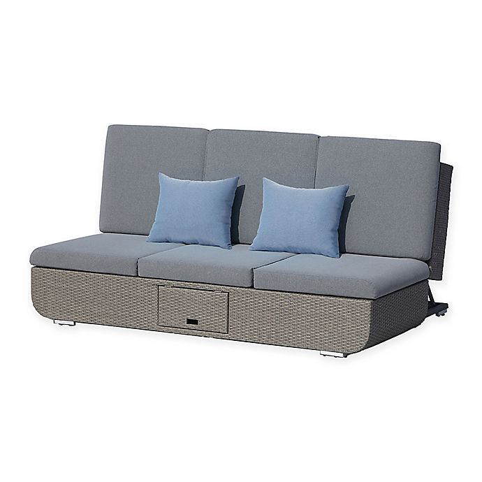 Alternate image 1 for OVE® Nadia Outdoor Chaise Lounge in Grey