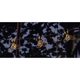 Solar Bee 10-Light String Lights in Gold
