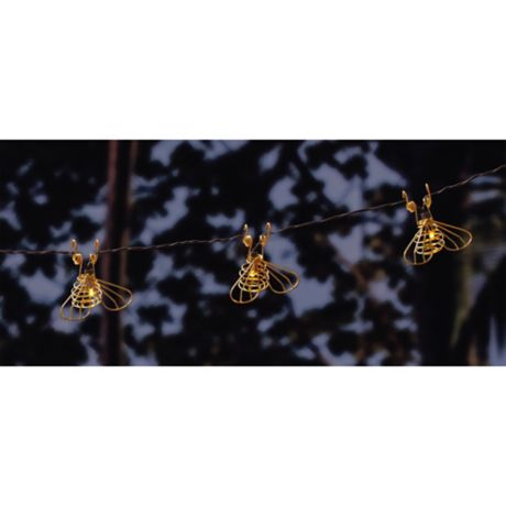 Solar Bee 10 Light String Lights In Gold Bed Bath Amp Beyond