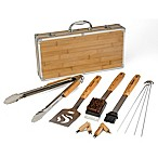 Cuisinart® 13-Piece Bamboo Grill Tool Set in Silver/Tan