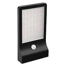 Link2Home Outdoor 36-Light LED Motion-Sensing Solar Flood Light in Black