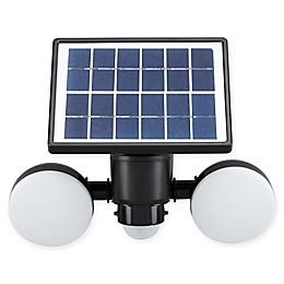 Link2Home 600 Lumen LED Solar Dual-Head Sensor Floodlight with Photocell Technology