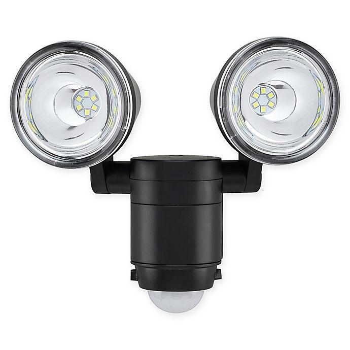 Link2home 330 Lumen Led Battery Dual Head Sensor Floodlight W Photocell Technology