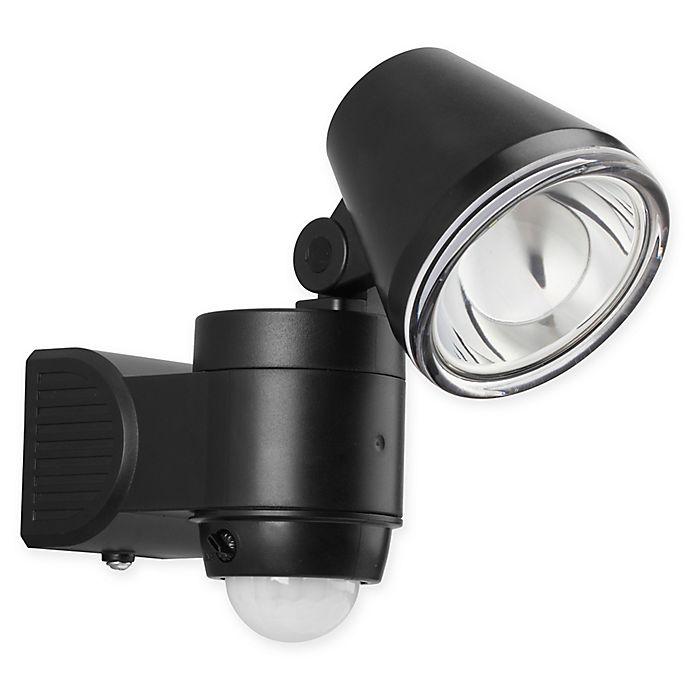 Link2home 200 Lumen Led Battery Single Head Sensor Floodlight W Photocell Technology