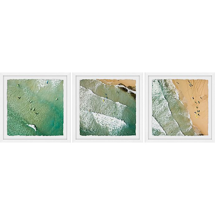 Alternate image 1 for Marmont Hill Waves II 120-Inch x 40-Inch Framed Triptych Wall Art