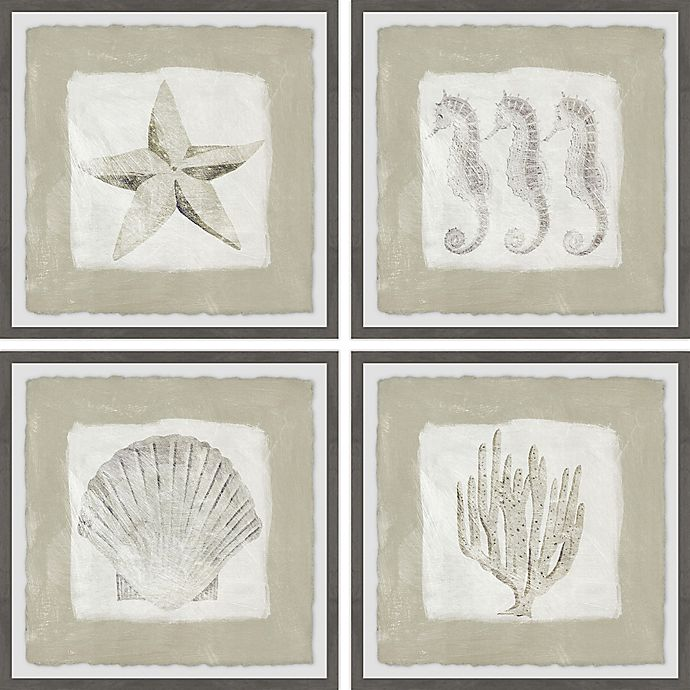Alternate image 1 for Marmont Hill Sea Fun 24-Inch Square Framed Quadriptych Wall Art