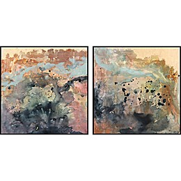 Marmont Hill Color Spill Framed Diptych Wall Art (Set of 2)