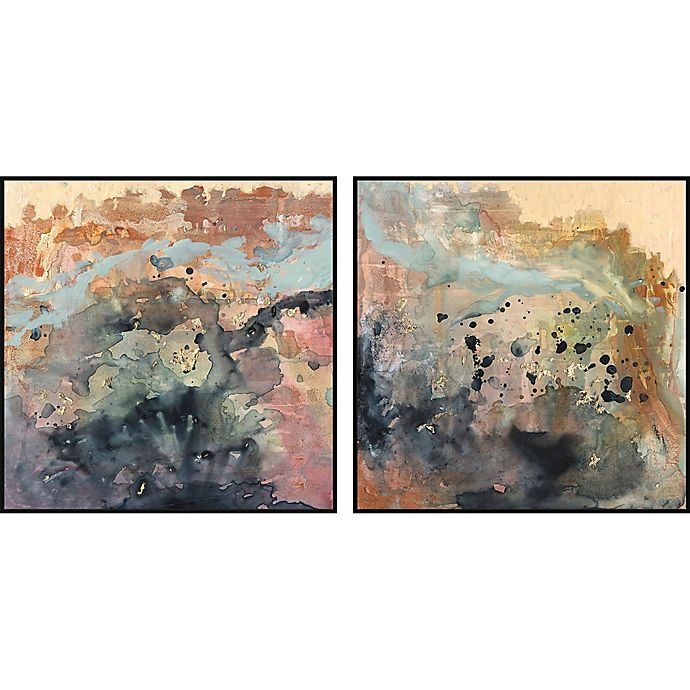 Alternate image 1 for Marmont Hill Color Spill 36-Inch x 18-Inch Framed Diptych Wall Art (Set of 2)